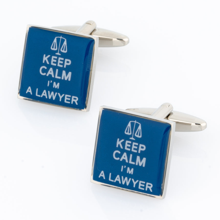 Keep Calm I'm a Lawyer Cufflinks
