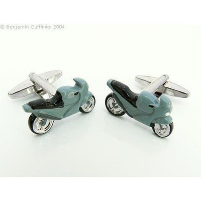 Grey Motor Racing Bike Cufflinks