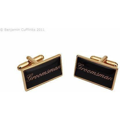 Groomsman Gold Wedding Cufflinks