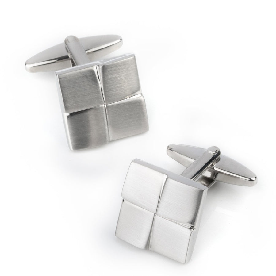 Silver Four-Square Cufflinks