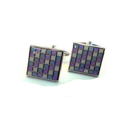 Pastel Coloured Mosaic Cufflinks