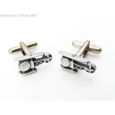 Helicopter Cufflinks (Pewter)