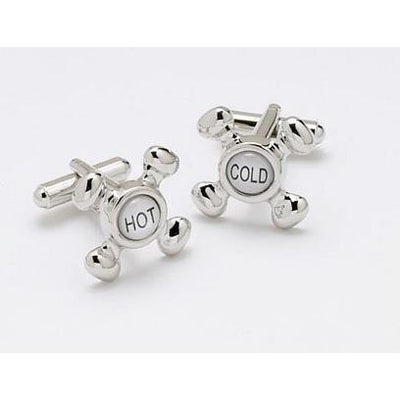 Hot and Cold Taps Cufflinks