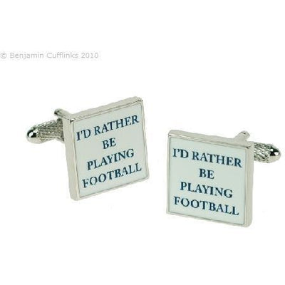 I'd rather be Playing Football Cufflinks