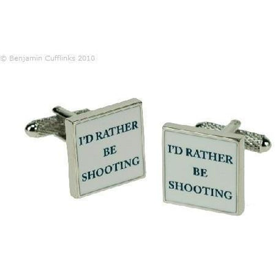 I'd rather be Shooting Cufflinks