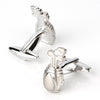 Silver Golf Bag with Clubs Cufflinks