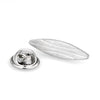 Silver Surfboard Lapel Pin