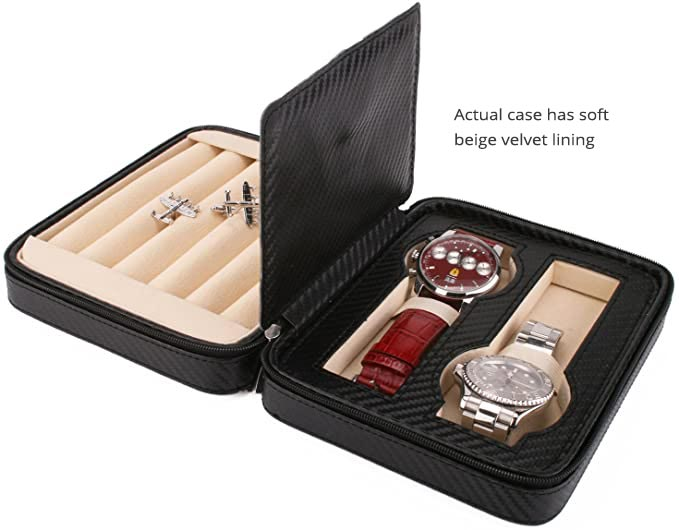 Executive Cufflink and Watch Case