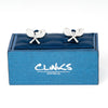 Crossed Tennis Racquet Cufflinks