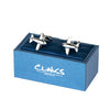 Bubble Plane Silver Cufflinks