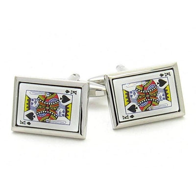 """King of Spades"" Playing Card Cufflinks"