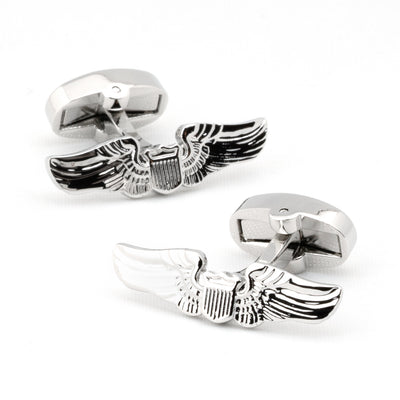 Pilot Wings Aviation Insignia Cufflinks
