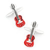 """Rock Out"" Red Guitar Cufflinks"