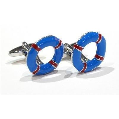 Life Ring Blue and Red Cufflinks