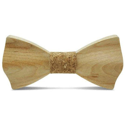 Light Wood Cork Adult Bow Tie