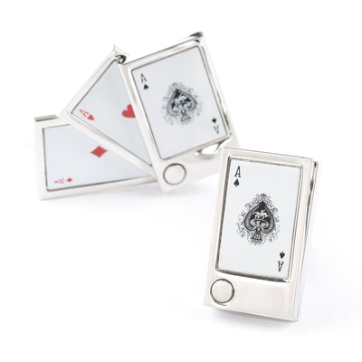 """Flip Out"" Playing Cards Cufflinks"