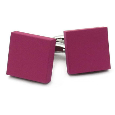 Matt Pink Square Cufflinks