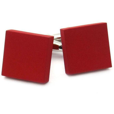Matt Red Square Cufflinks