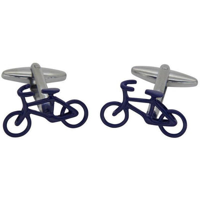 Modern Blue Bicycle Cufflinks