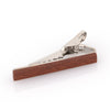 Red Wood Small Tie Clip