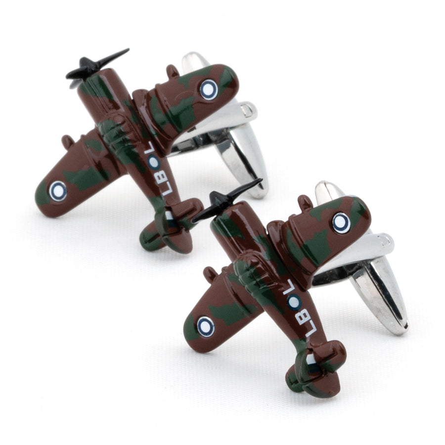 CAC Boomerang Fighter Airplane Cufflinks Camouflage