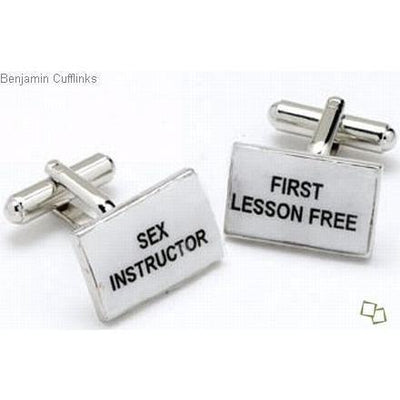Naughty Slogan Cufflinks
