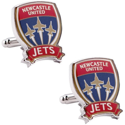 Newcastle Jets FC A-League Football Cufflinks