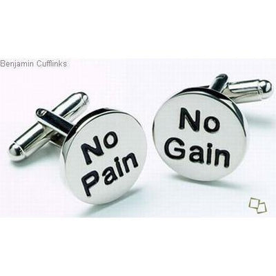 No Pain, No Gain Cufflinks