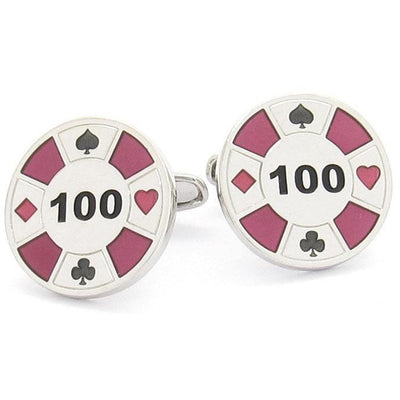 """Poker Chip"" Cufflinks"
