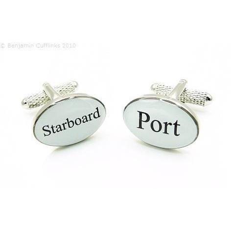 Port  Starboard Black/White Cufflinks