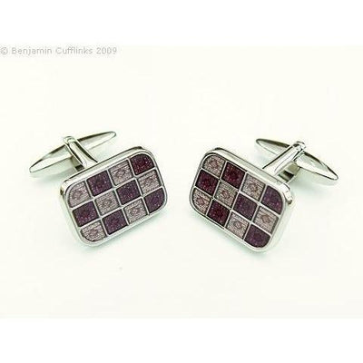 PurpleMauve 12 Square Cufflinks
