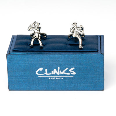 Baseball Pitcher and Batter Cufflinks