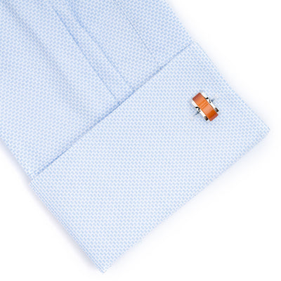 Sunset Orange Cateye Cufflinks