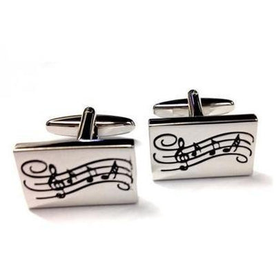 Rectangular Musical Cufflinks