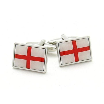 Red & White St George's Cross Cufflinks