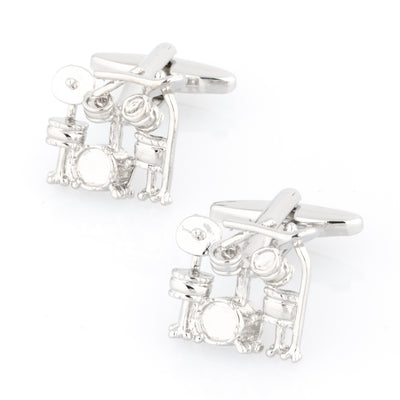Silver Drum Kit Cufflinks