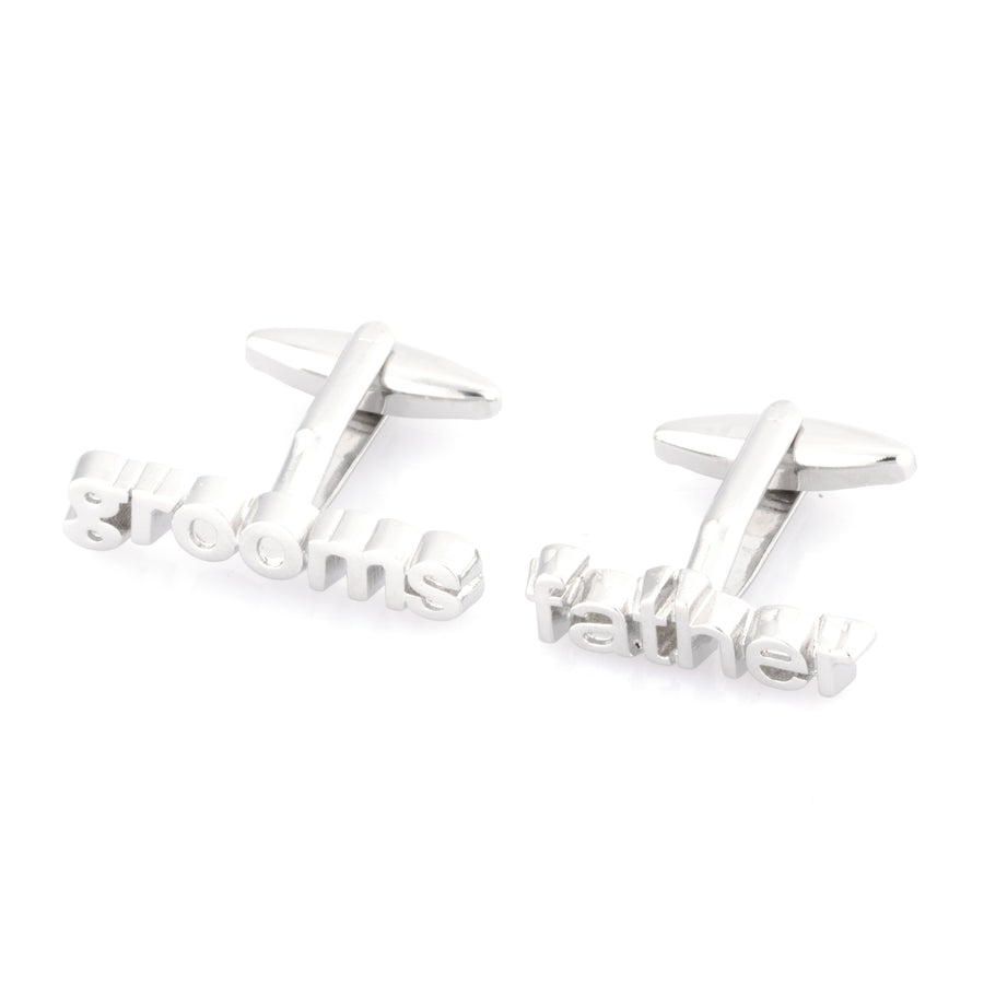 Grooms Father cut-out style cufflinks