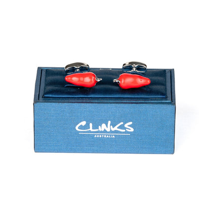Red Chilli Pepper Cufflinks