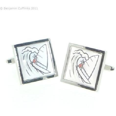 Sailing Cartoon Cufflinks