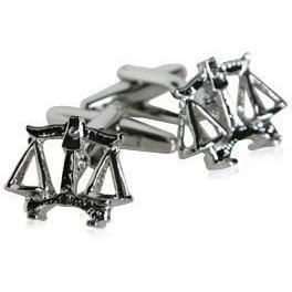 Scales of Justice Silver Cufflinks
