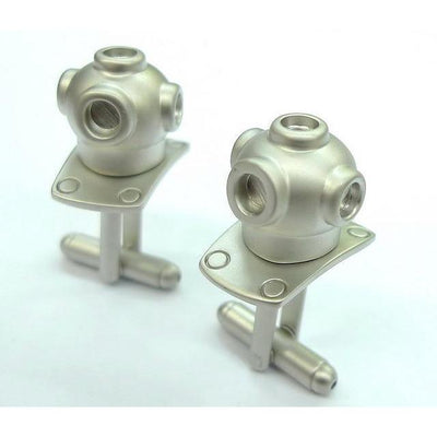 Scuba Diving Helmet Cufflinks