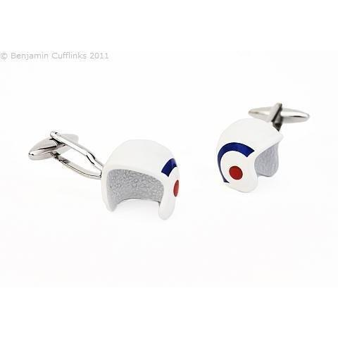 Serious Helmet Cufflinks