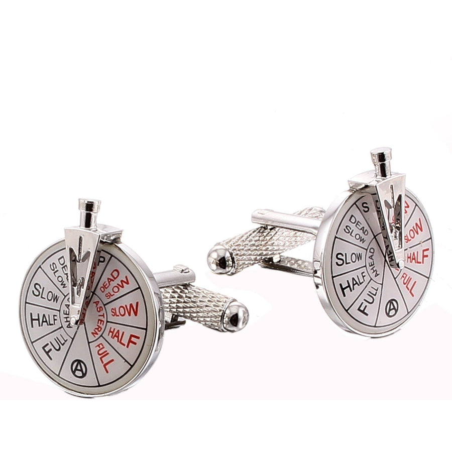 Ship Telegraph with Handle Cufflinks