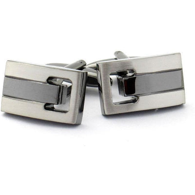 Silver and Gunmetal Cufflinks