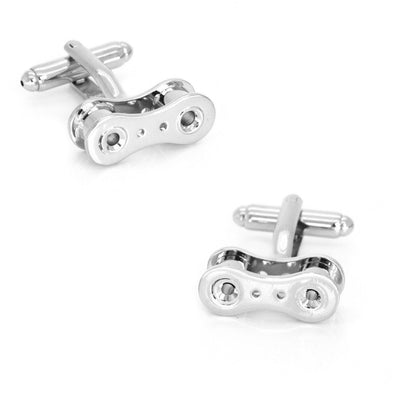 Silver Bicycle Chain Link Cufflinks