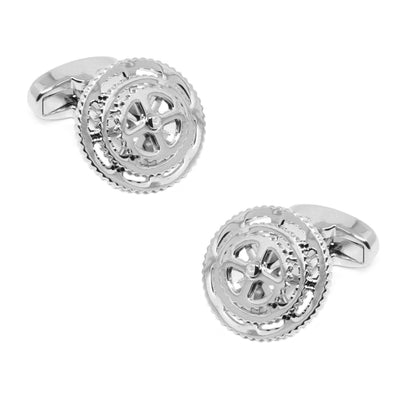 Silver Bicycle Gears Cog Cycling Cufflinks