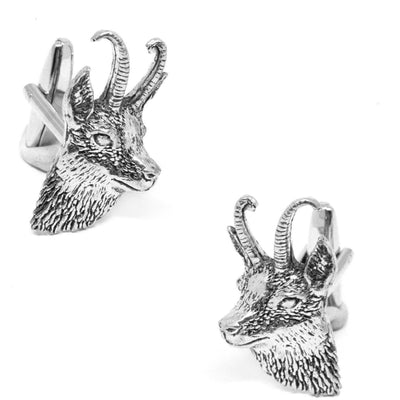 Silver Goat's Head Cufflinks