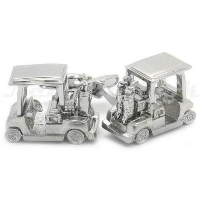 Silver Golf Buggy Cufflinks
