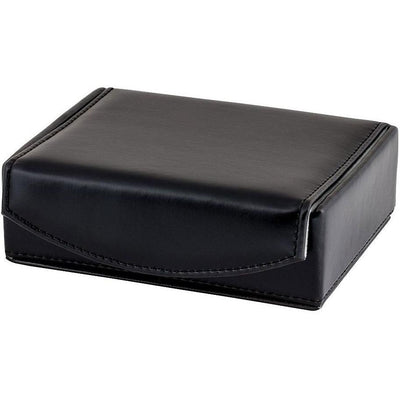 Small Black Leathette Cufflink Box with Collar Stays