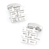 Silver Double Happiness Cufflinks